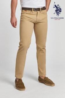 U.S. Polo Assn. Brown Woven Trousers