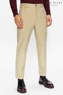 Ted Baker Cream Telscop Moleskin 5 Pocket Trousers