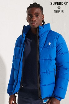 Superdry Blue Non Hooded Sports Puffer Jacket