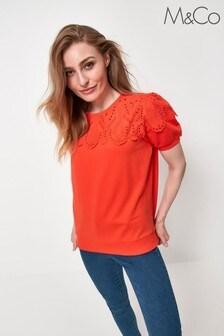 M&Co Orange Broderie Sweatshirt