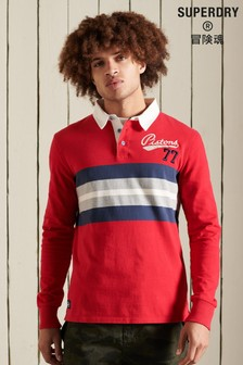 Superdry Red Rugby Shirt