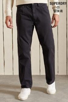 Superdry Black Organic Cotton Carpenter Pants