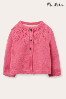 Boden Pink Everyday Textured Cardigan