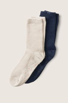 Victoria's Secret PINK 2-Pack Marshmallow Knit Socks