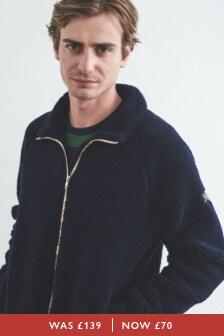 Warwick Wool Blend Borg Zip Up