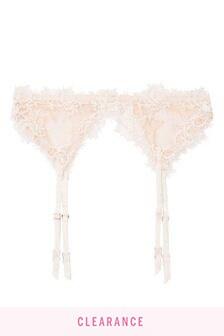 Victoria's Secret Embroidered Garter Belt
