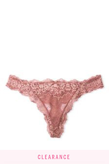 Victoria's Secret Dream Angels Lace Shimmer Thong Panty