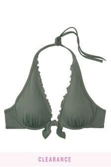 Victoria's Secret Capri Ruffle Halter Bikini Top