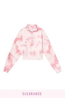 Victoria's Secret Mockneck Stretch Fleece Halfzip Sweatshirt