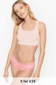 Victoria's Secret Stretch Cotton Lacewaist Cheeky Panty