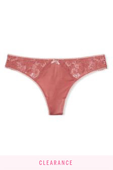 Victoria's Secret Smooth  Lace Thong Panty