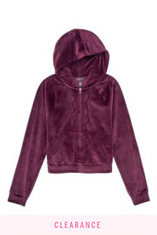 Victoria's Secret Velour Front Zip Hoodie