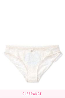 Victoria's Secret Bride Ruffle Cheekini Panty