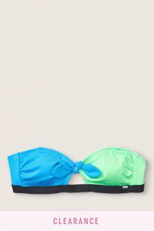 Victoria's Secret PINK Swim Knot Front Bandeau Top