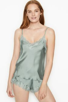 Victoria's Secret Georgette Lace-up Back Cami Set