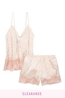 Victoria's Secret Satin & Lace Cami Set