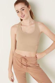 Victoria's Secret PINK Seamless Lightly Lined Scoop Neck Sports Crop Bra