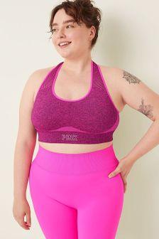 Victoria's Secret PINK Seamless Lightly Lined Gym Racerback Sports Bra
