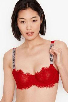 Victoria's Secret Wicked Unlined Lace Shine Strap Balconette Bra
