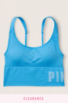 Victoria's Secret PINK Seamless Lightly Lined Scoop Neck Sports Crop