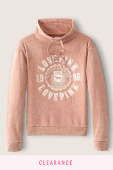 Victoria's Secret PINK Everyday Lounge Cowl Neck Pullover