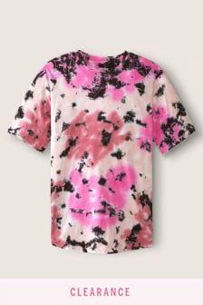 Victoria's Secret PINK Unisex Varsity Short Sleeve Crew Tee