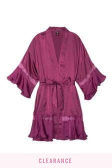 Victoria's Secret Colorblock Flounce Robe
