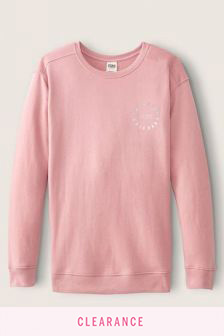 Victoria's Secret PINK Everyday Lounge Campus Crew Sweatshirt