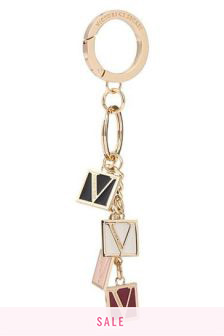 Victoria's Secret Monogram Dice Keychain Charm