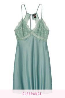 Victoria's Secret Satin & Lace Tie Back Slip