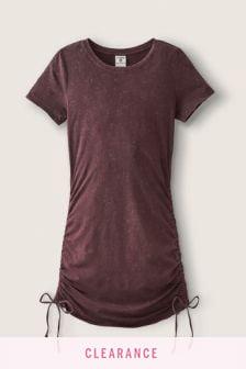 Victoria's Secret PINK Adjustable Ruched Side T-Shirt Dress