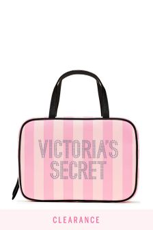 Victoria's Secret Signature Stripe Jetsetter Travel Case