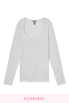 Victoria's Secret Heavenly by Victoria Supersoft Modal Scoopneck Tee