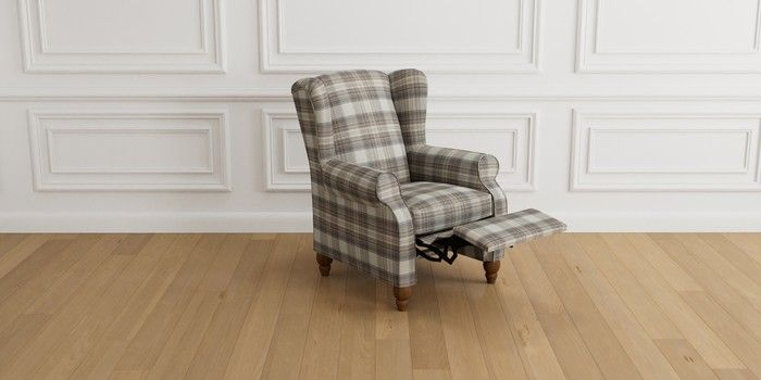 Buy Sherlock Relaxer Chair (1 Seat) Brushed Check Perth ...