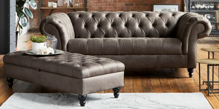 Buy Gosford Buttoned Seat Leather From The Next Uk Online Shop