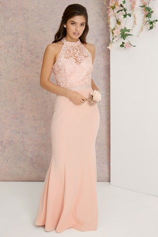 Buy Lipsy Vivienne Embroidered Lace Top Maxi Dress from Next USA 9e7dc3350