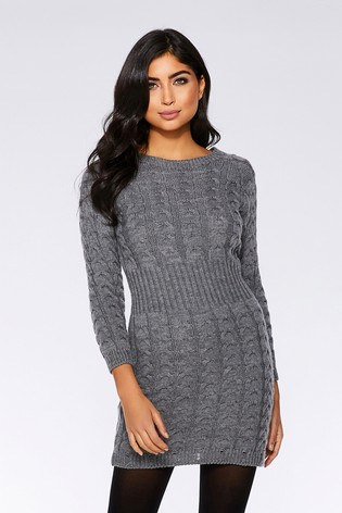 Buy Quiz Knitted Jumper Dress From Next Usa
