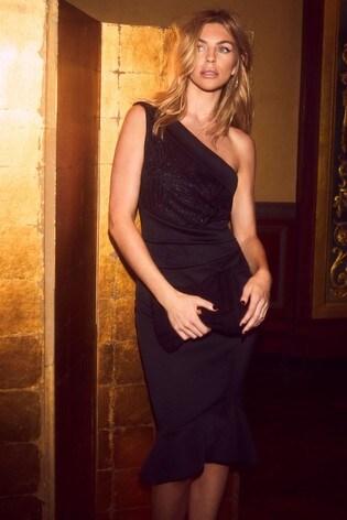 Buy Abbey Clancy X Lipsy Petite One Shoulder Bodycon Dress From Next