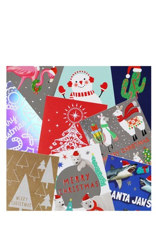 paperchase assorted small christmas cards pack of 24 - Where To Buy Christmas Cards