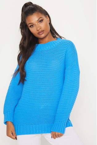 Buy PrettyLittleThing Oversized Longline Jumper from Next Luxembourg
