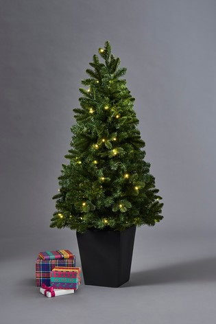 4ft christmas tree with lights fiber optic 80 led potted 4ft christmas tree buy from the next uk online shop
