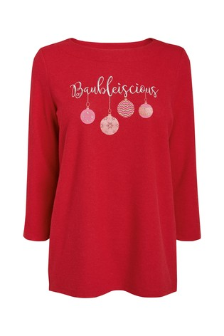 warehouse sequin icons christmas jumper