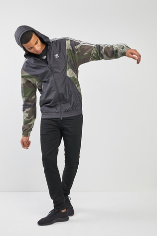 newest collection 5981b 7032d adidas Originals Camo 3 Stripe Windbreaker ...