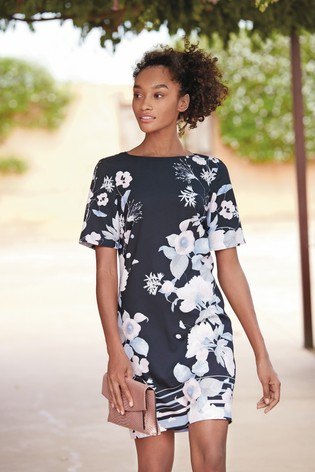 8ad47ecb1ae2 Buy Navy Floral Shift Dress from the Next UK online shop