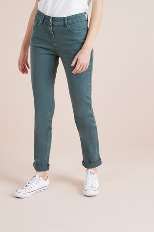 87e3eb00f307a1 Buy Khaki Relaxed Skinny Jeans from the Next UK online shop