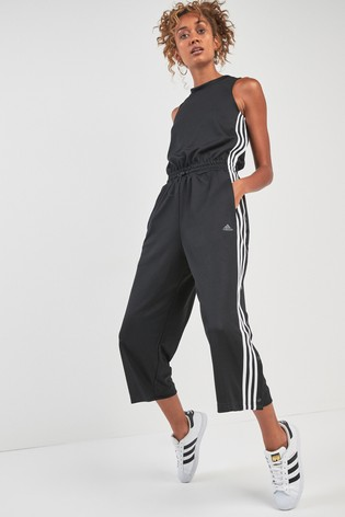 3628a40c082d Buy adidas Black 3 Stripe Snap Romper from the Next UK online shop