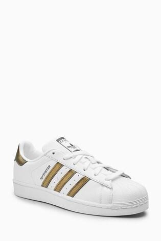 a010d9351d97 Buy adidas Originals White Gold Superstar from the Next UK online shop