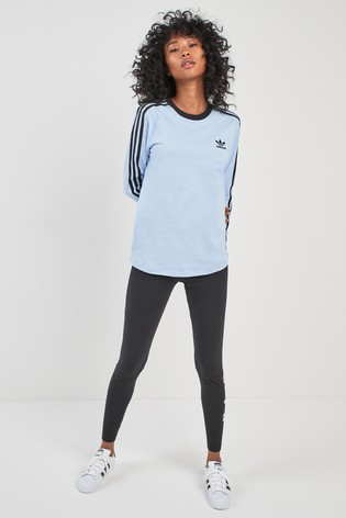 41a69300b4 Buy adidas Originals Periwinkle 3 Stripe Long Sleeved Tee from the ...