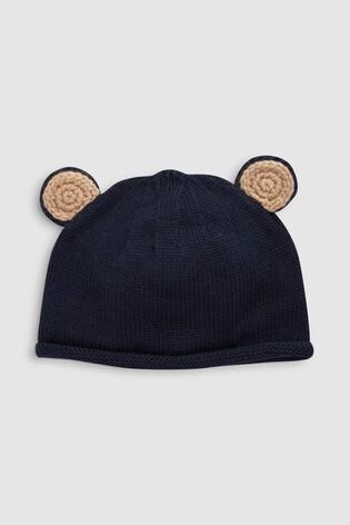 1e2974d353e Buy Navy Knit Bear Ears Hat (0mths-2yrs) from Next India