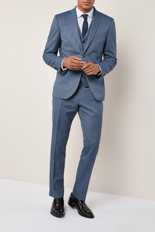 a0e117e92657 Buy Light Blue Slim Fit Textured Suit: Trousers from the Next UK ...